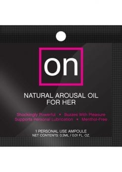 Sensuva On Natural Arousal Oil For Her .3ml 75 Per Bowl
