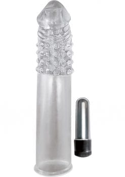 Ram Vibrating Penis Extender Clear 7.5 Inch