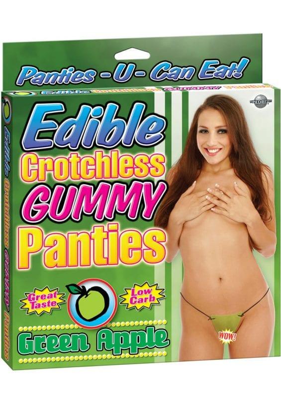 Edible Crotchless Gummy Panties Apple Green