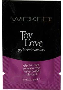 Wicked Toy Love Gel Foil Packs .10 Ounce 144 Each Per Bag