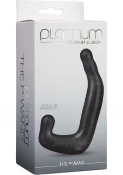 Platinum Premium Silicone - The P-Wand Prostate Massager - Charcoal