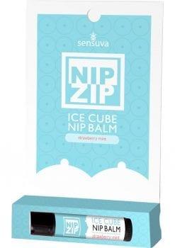 Sensuva Nip Zip Ice Cube Nip Balm Strawberry Mint Flavor