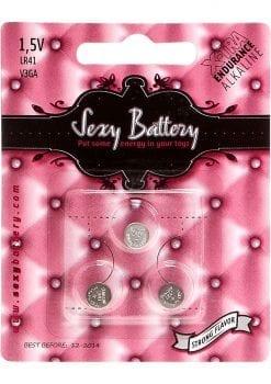 Sexy Battery Xtra Endurance Alkaline LR41 V3GA/ 1.5V 3 Each Per Pack