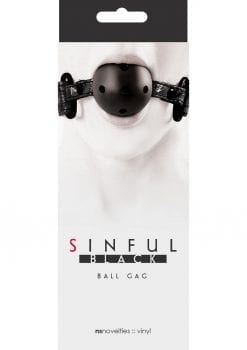 Sinful Ball Gag Black