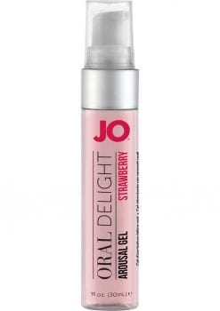 Jo Oral Delight Flavored Arousal Gel Strawberry 1 Ounce
