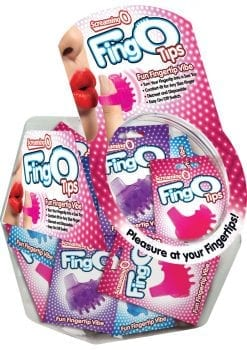 Fing O Tips Silicone Finger Massagers Assorted Colors 36 Each Per Bowl
