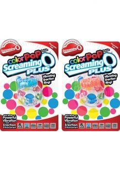 Color Pop Quickie Screaming O Plus Silicone Vibrating Cockring Assorted Colors 12 Each Per Case
