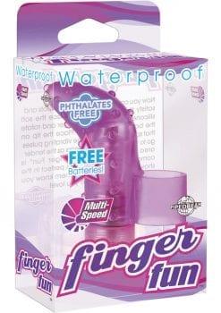 Finger Fun Massager Waterproof Purple