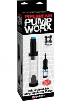 Pump Worx Deluxe Head Job Vibrating Power Penis Pump