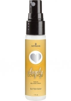 Sensuva Deeply Love You Throat Relaxing Spray Butter Rum Flavor 1oz