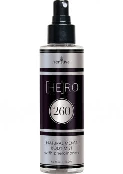 Sensuva Hero 260 Natural Men`s Body Mist With Pheromones 4.2oz