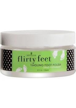 Sensuva Flirty Feet Tingling Foot Polish Sweet Peppermint 8oz