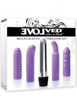 Evolved Multi Sleeve Vibrator Kit Purple