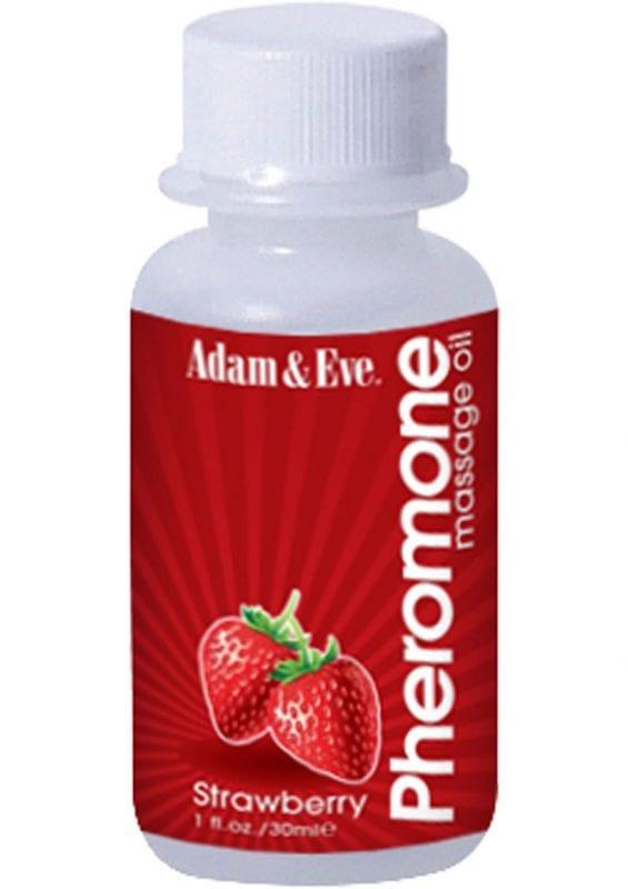 Adam and Eve Pheromone Massage Oil Strawberry 1 Ounce