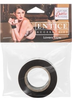 Entice Lovers Tape Restraint Black 4 Feet