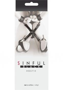 Sinful Vinyl Hogtie Restraint Black