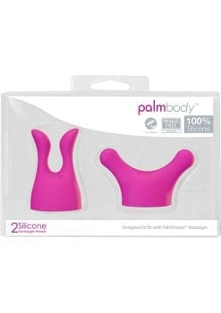 Palm Body Silicone Massager Heads Pink 2 Each Per Pack