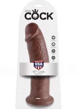 King Cock Realistic Dildo Brown 10 Inch