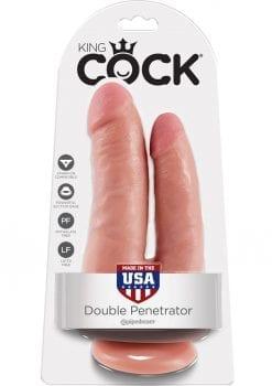 King Cock Double Penetrator Dildo Flesh