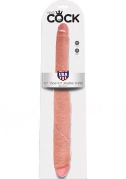 King Cock Tapered Double Dildo Flesh 16 Inch