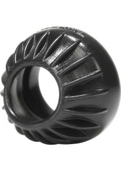 Oxballs Turbine Silicone Cockring Black 1.75 Inch