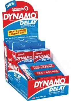 Dynamo Delay Spray 6 Packs Per POP Display
