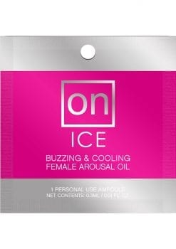 Sensuva On Ice Buzzing and Cooling Female Arousal Oil .3ml 75 Per Bowl