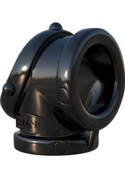 Fantasy C-Ringz Rock Hard Cock Pipe Cock Ring Black