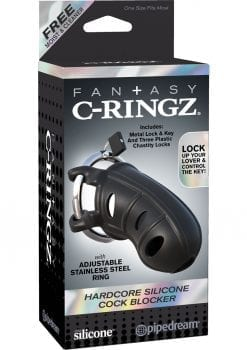 Fantasy C-Ringz Hardcore Silicone Cock Blocker Black