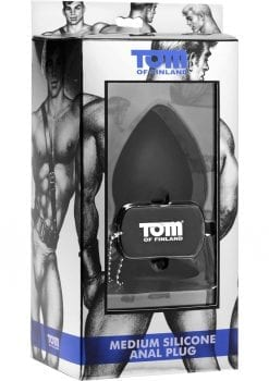 Tom Of Finland Medium Silicone Anal Plug Black 3 Inch