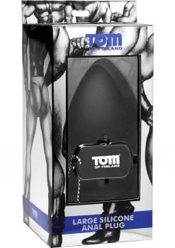 Tom Of Finland Large Silicone Anal Plug Black 4 Inch
