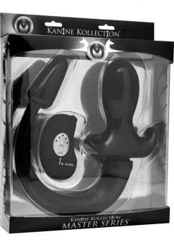 Master Series Good Boy Wireless Vibrating Remote Puppy Plug Black 7.5 Inch