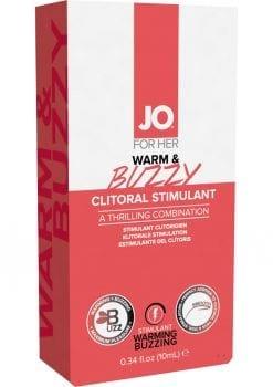 JO Buzzy Clitoral Stimulant Gel Warming .34oz