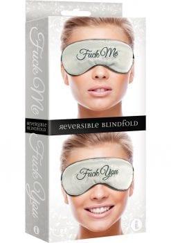Fuck Me Fuck You Reversible Silk Blindfold