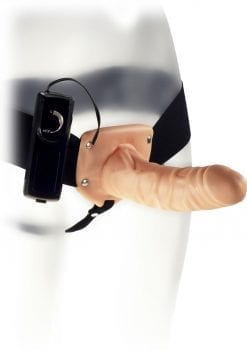 Kinx Extender Hollow Vibrating Strap On 6 Inch