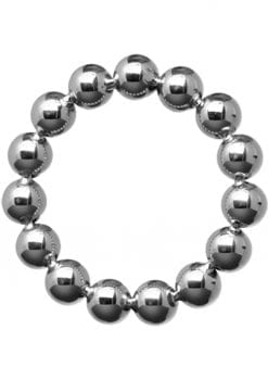 Master Series Meridian Steel Beaded Cockring 1.75 Inches