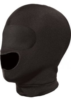Master Series Blow Hole Open Mouth Spandex Hood Black