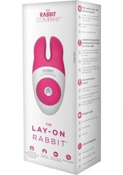 The Lay On Silicone Rabbit Vibe Hot Pink