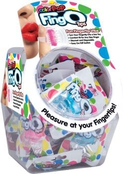 Color Pop Quickie Fing O Tips Fingertip Vibes Bowl Display Assorted Colors