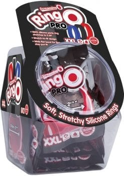 Ring O Pro Double Xtra Large Silicone Cockrings Waterproof Assorted Colors 24 Piece Bowl