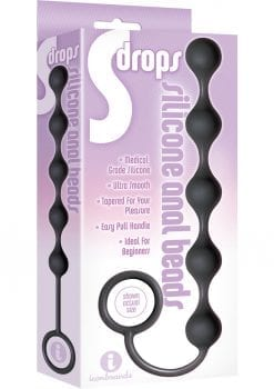 Drops Silicone Anal Beads Black