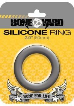 Bone Yard Silicone Ring Cockring Grey 2 Inch Diameter