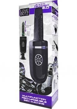 Love Hammer Jaxxx Hammer 2.0 Multifunction Rechargeable Sex Machine ABS Black