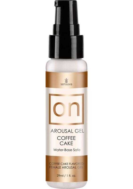 Sensuva On Arousal Gel Water Base Coffee Cake Flavor 1oz