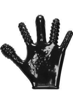 Finger Fuck Textured Glove Flex Black
