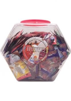 Trustex Assorted Flavor Condoms 288 Per Bowl