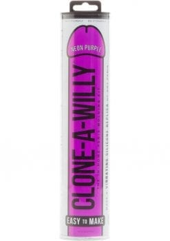 Clone A Willy Silicone Vibrating In Home Penis Molding Kit Neon Purple
