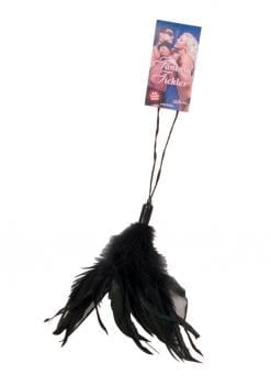Fantasy Tickler Pleasure Feather Black