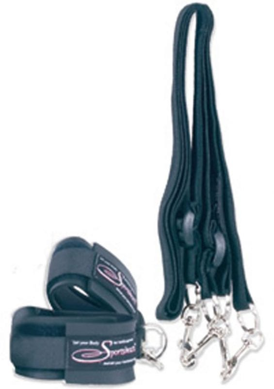 Sport Cuffs And Tethers Kit Black
