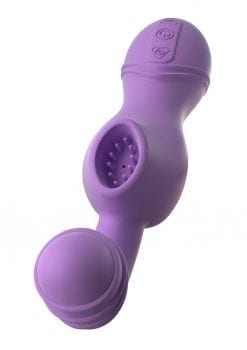 Fantasy For Her Tease N` Please Her USB Rechargeable Silicone Clitoral Stimulator Waterproof Purple 6.5 Inch